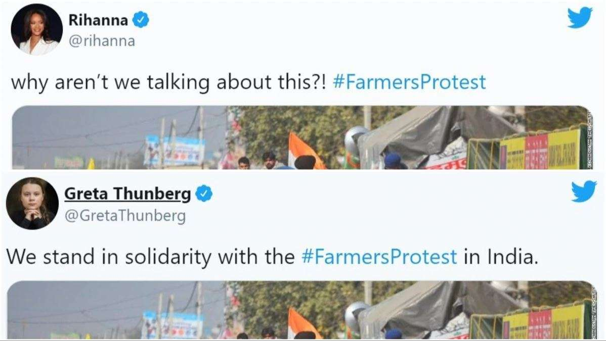 fake celebs speaking out about farmers protests